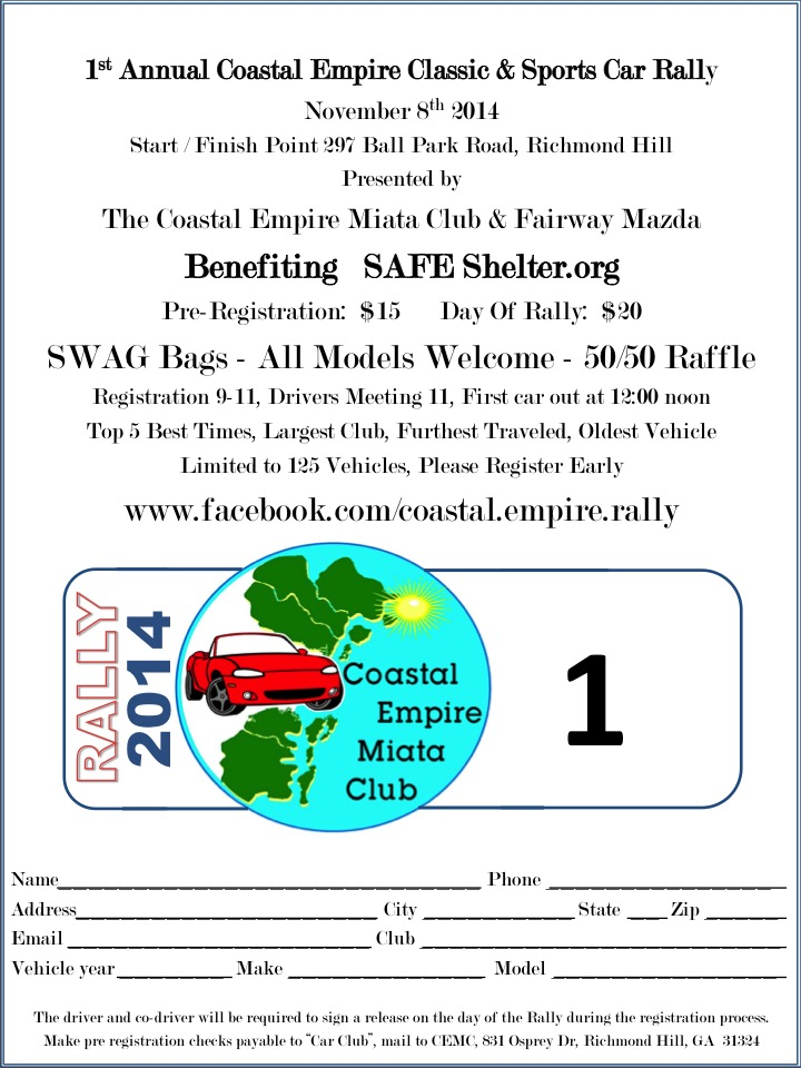Rally flyer and registration